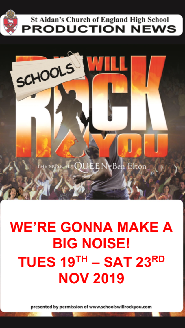 We Will Rock You - Cast Information - St Aidan's